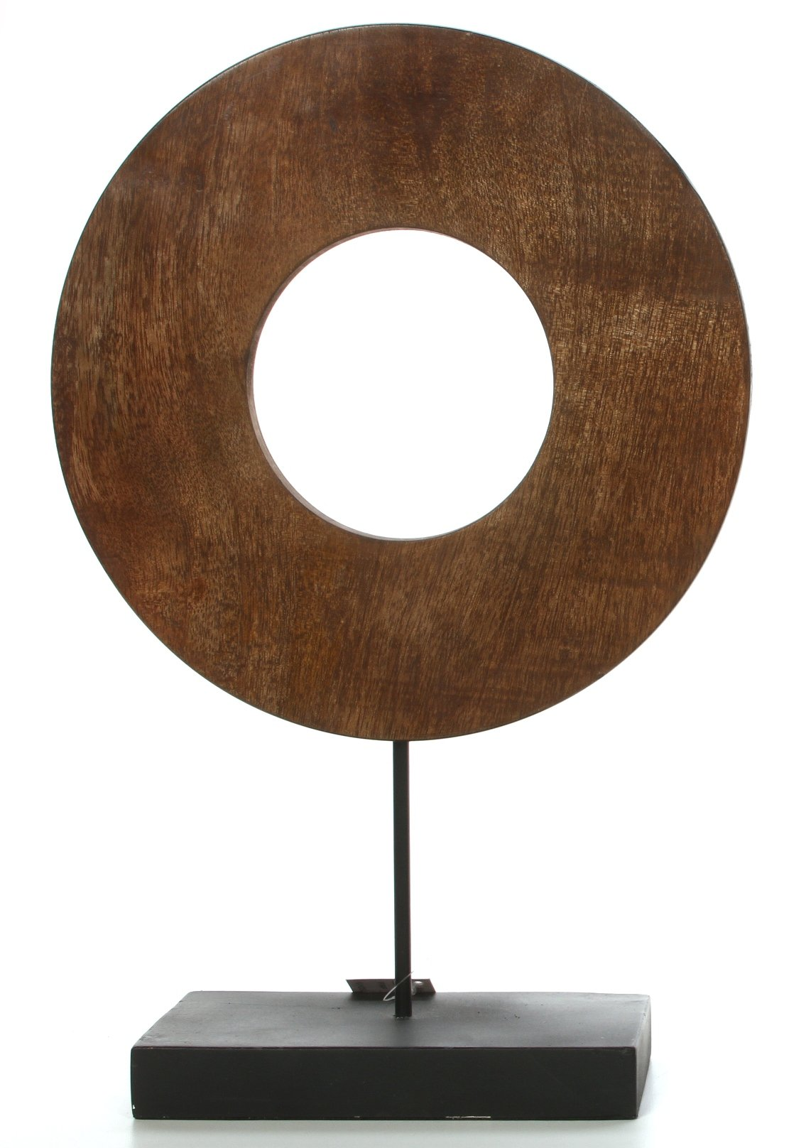 Hosley 15'' High, Decorative Zen Circle, Wood Tabletop Pedestal, Large. Ideal Gift for Wedding, Home, Party Favor, Spa, Reiki, Meditation, Bathroom Settings O9