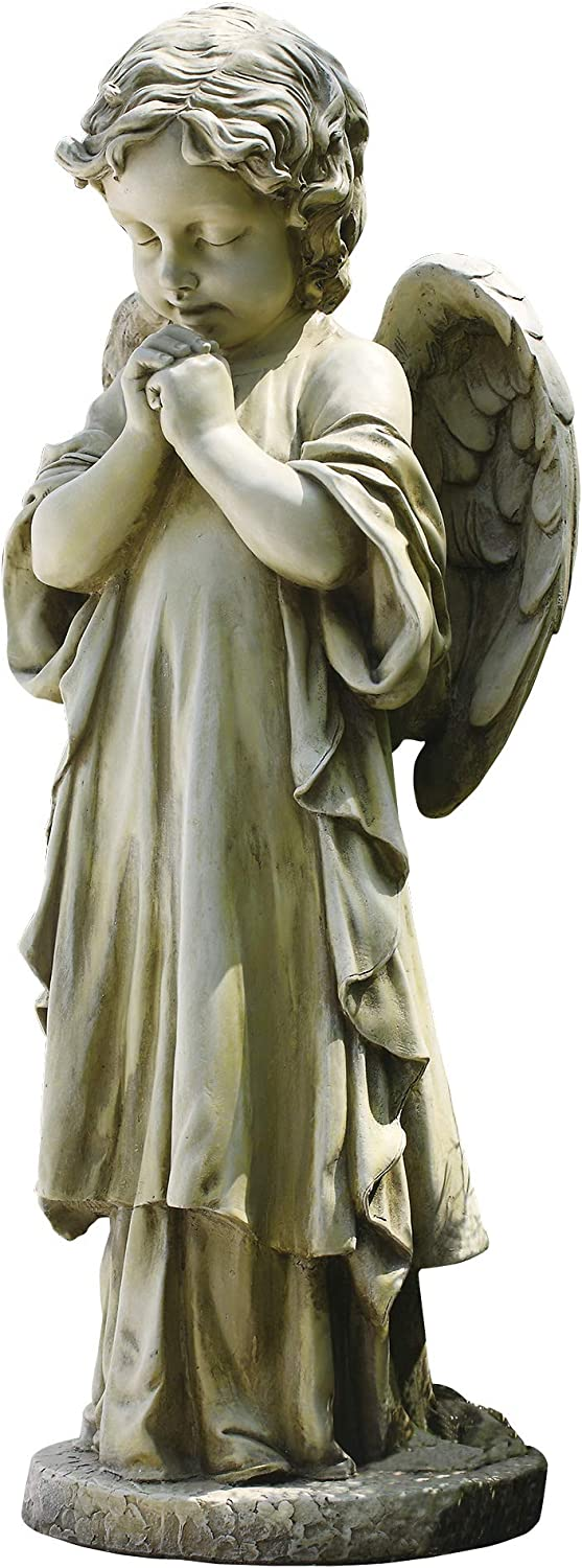 Joseph's Studio by Roman - Praying Child Angel Statue, 26H, Garden Collection, Resin and Stone, Decorative, Religious Gift, Home Outdoor and Indoor Decor, Durable, Long Lasting