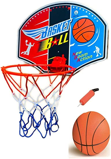 UK Mini indoor Basketball Board with Net Hoop Ball Pump Set For Child Kids Toy