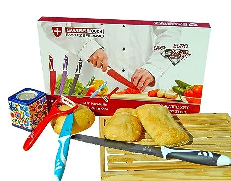 SWISS TOUCH. Set juego de cuchillos de cocina profesionales ...