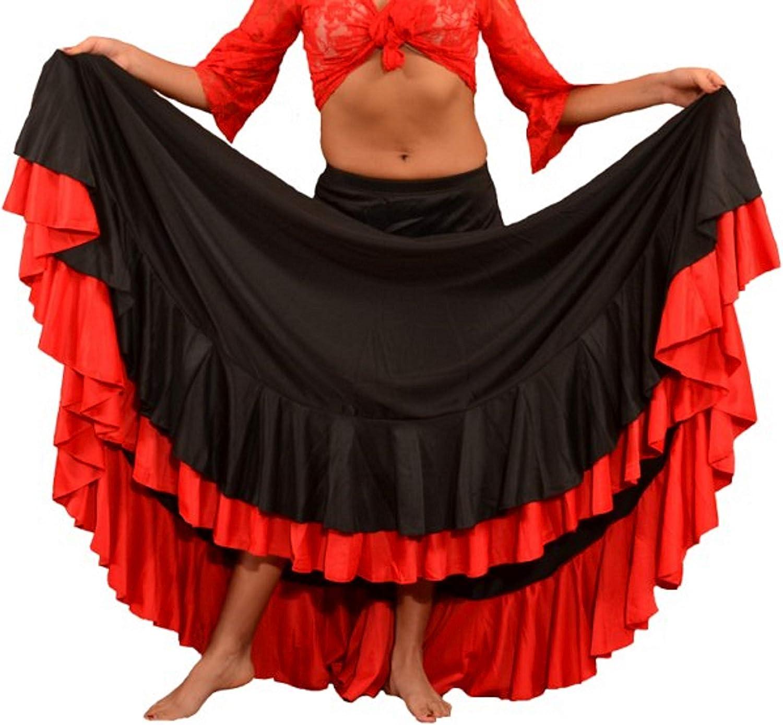 Anuka Falda Profesional de Mujer para Danza Flamenca. Mucho Vuelo ...