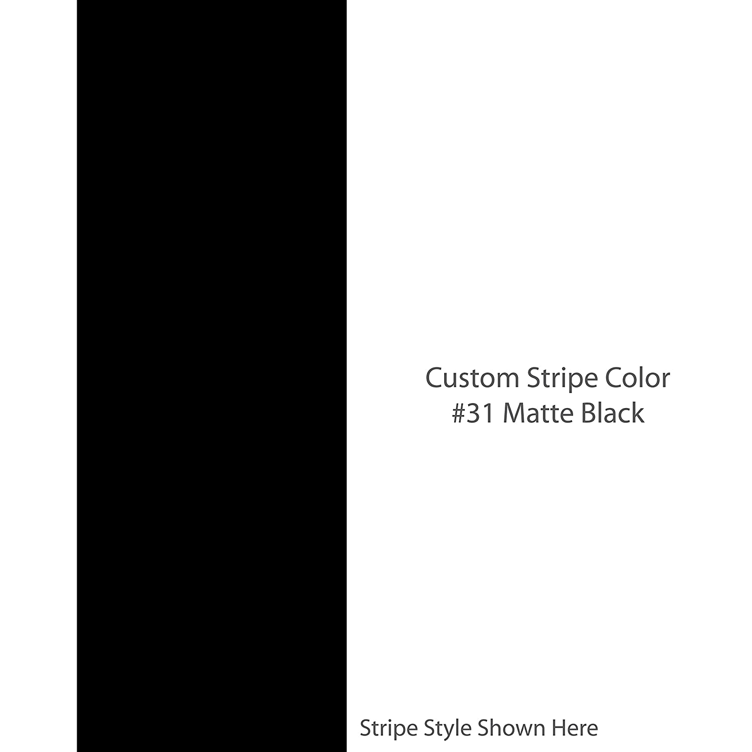Solid 2 inch wide custom racing stripes color matte black choose from 22 stripe width options car truck auto vehicle universal vinyl decal custom