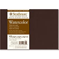 """Pro-Art Strathmore Softcover Watercolor Journal 8 x 5.5-inch, 24 Sheets, White, 8""""x5.5"""""""