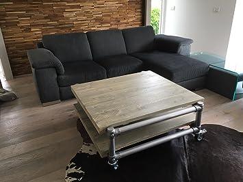 Designer Tisch | Couchtisch Loft Tisch Designer Tisch Rollbar Im Industrie Design