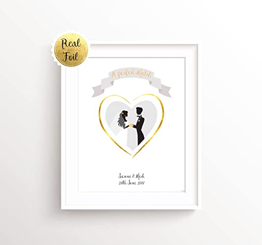 Gift For Bride And Groom Personalised Wedding Print Wedding Present