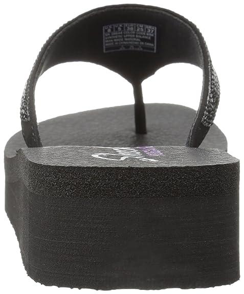 Skechers Women's Diamonte Vinyasa Platform Flip Flop Black 9Q2mB