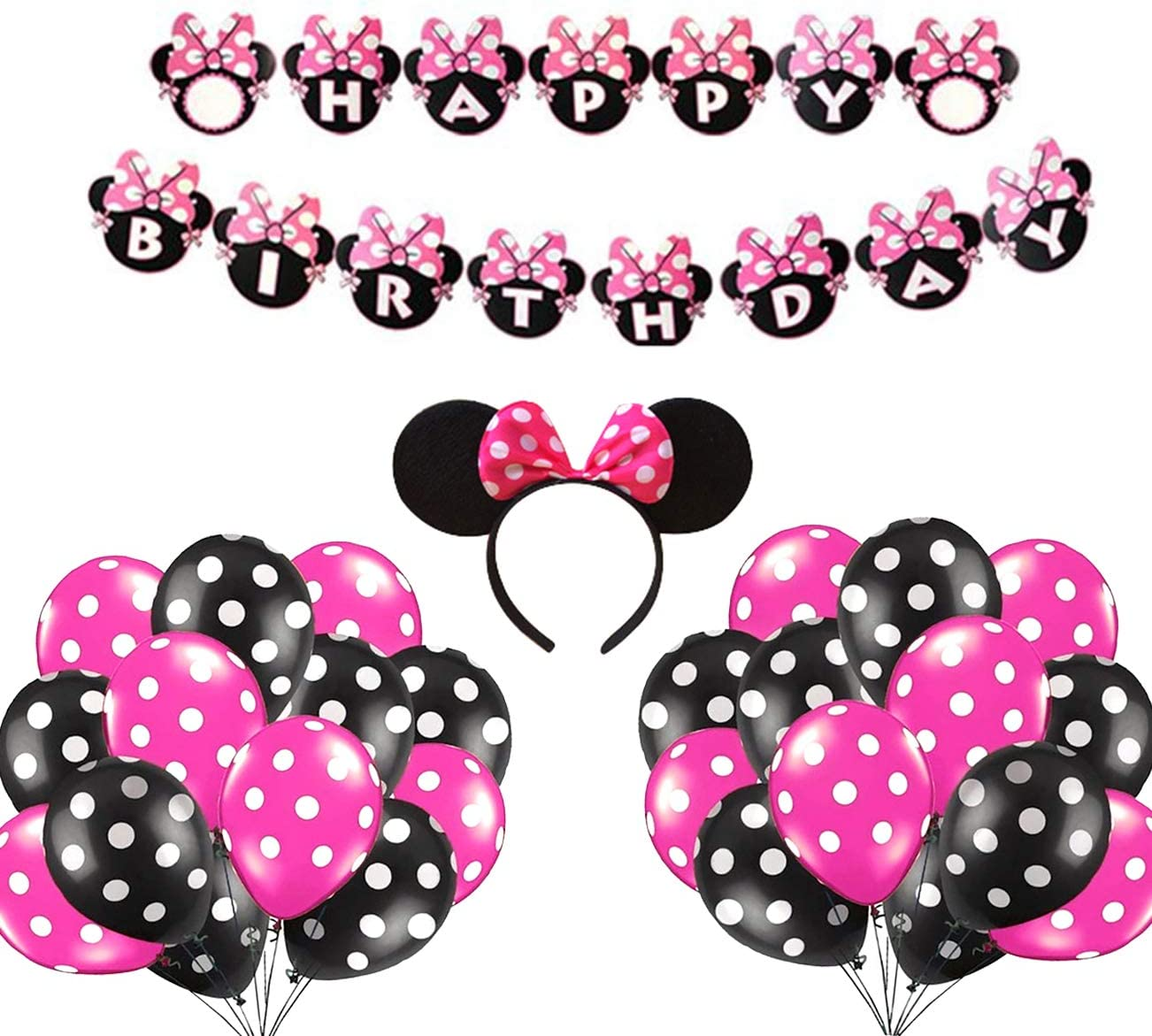 Minnie Mouse Diadema Para Fiesta De Cumpleaños Accesorios De Decoración De Minnie Mouse Con Diseño De Mickey Mouse Para Fiestas De Cumpleaños O Cumpleaños Toys Games