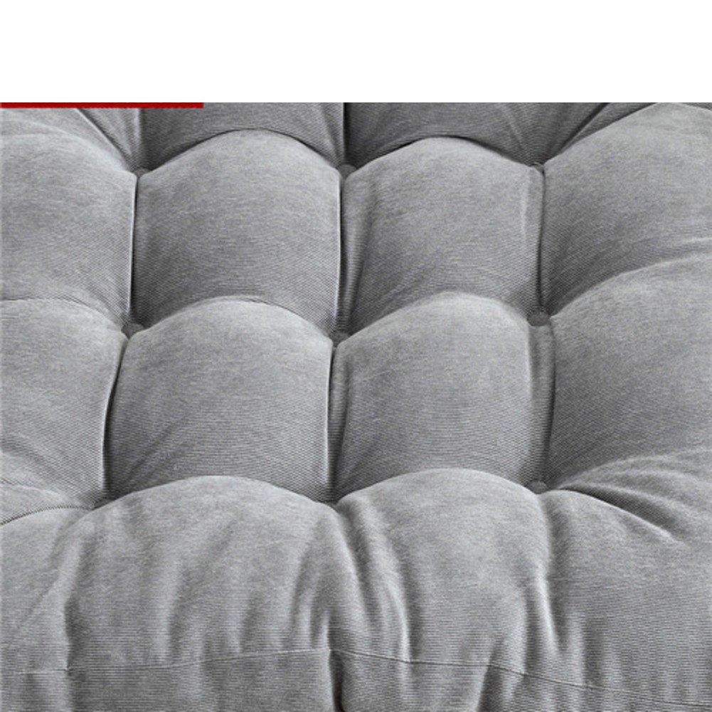 QTQZ Corduroy Thickened futon,Solid Color Chair Cushion Tatami Simple Cotton seat Cushion Fat pad Bay Window pad-E 55x55cm(22x22inch)