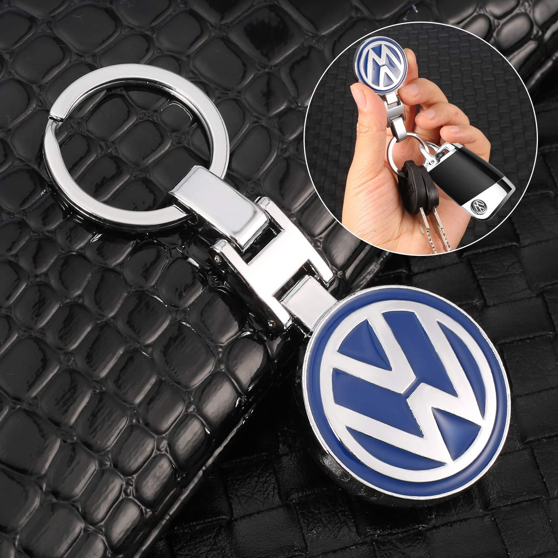 Llaveros de Coche con Emblema de Metal 3D para BMW Mercedes Benz VW Audi MIKAFEN For Toyota