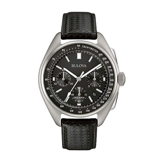 Bulova Piloto Lunar 96B251 - Reloj de Pulsera de diseño para Hombre - Correa de Cuero - Negro: Amazon.es: Relojes