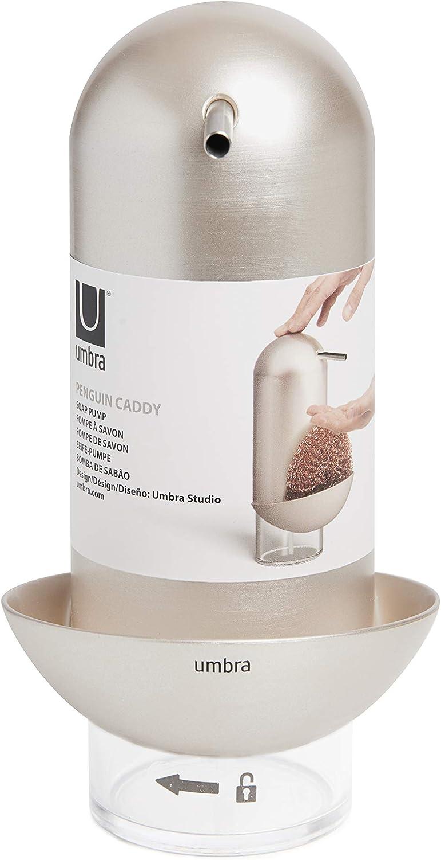 Black Umbra Penguin Pump 12 oz Kitchen Soap Dispenser 355 ml Also Works with Hand Sanitizer