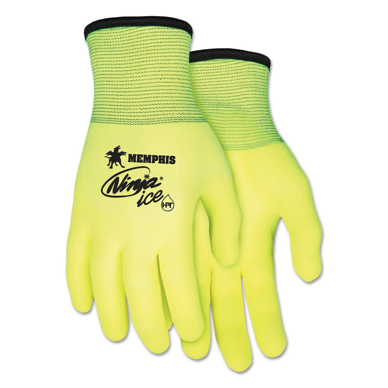 MCR SAFETY - Ninja Ice Gloves, Large, High Vis Lime, 1 Dozen ( CRWN9690HVL ) ( N9690HVL )