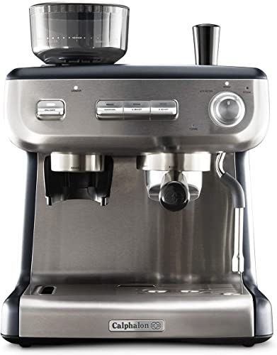 Calphalon BVCLECMPBM1 Temp iQ Espresso Machine with Grinder and Steam Wand