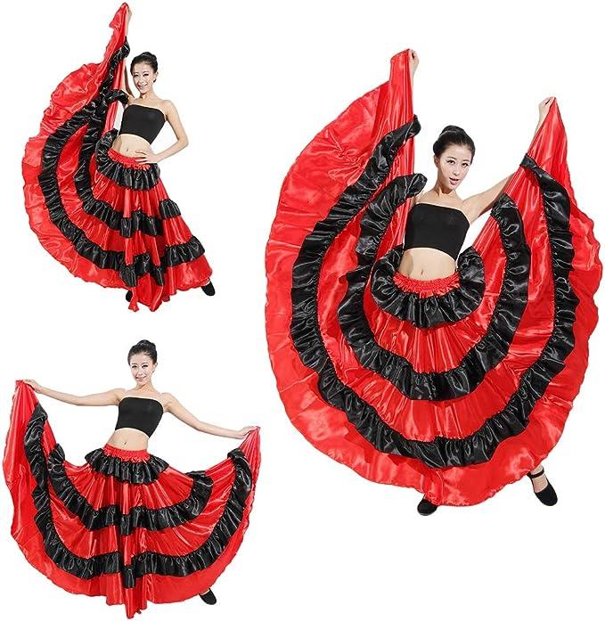 Kairuun Danza del Vientre Satén Faldas Largas de Mujer Falda de ...