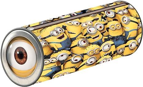 Despicable Me - Estuche cilíndrico, diseño de minions: Amazon.es: Oficina y papelería