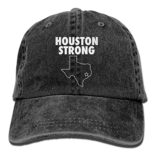 Houston Strong Vintage Adjustable Denim Hat Baseball Caps For Man And Woman 5c3e05a5c8b