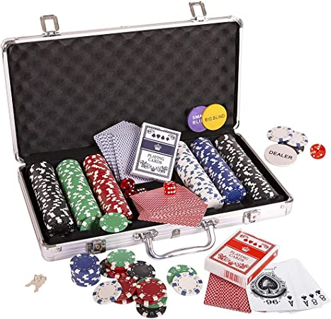 Fichas de póquer, Fichas de Poker Poker Set Set dados Naipes conjunto de chips Dados Estilo
