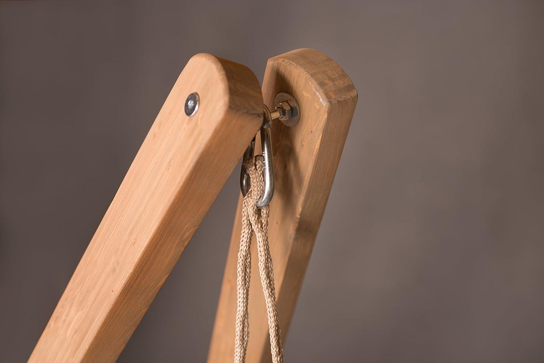 Vela Caramel LA SIESTA Soporte de Madera p/ícea con certificaci/ón FSC para sillas Colgantes Lounger