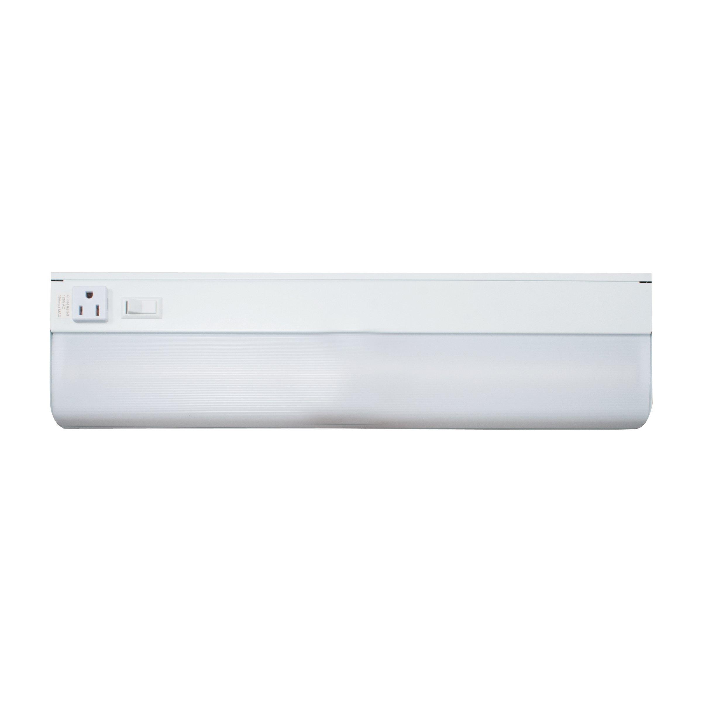 LEDU L9169 Under-Cabinet LED Lamp, 18'' Long, White