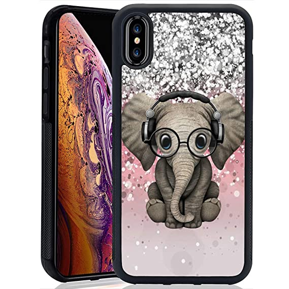 068d36c2f43bb Amazon.com: iPhone Xs Max Case,DJ Baby Elephant Case for iPhone Xs ...