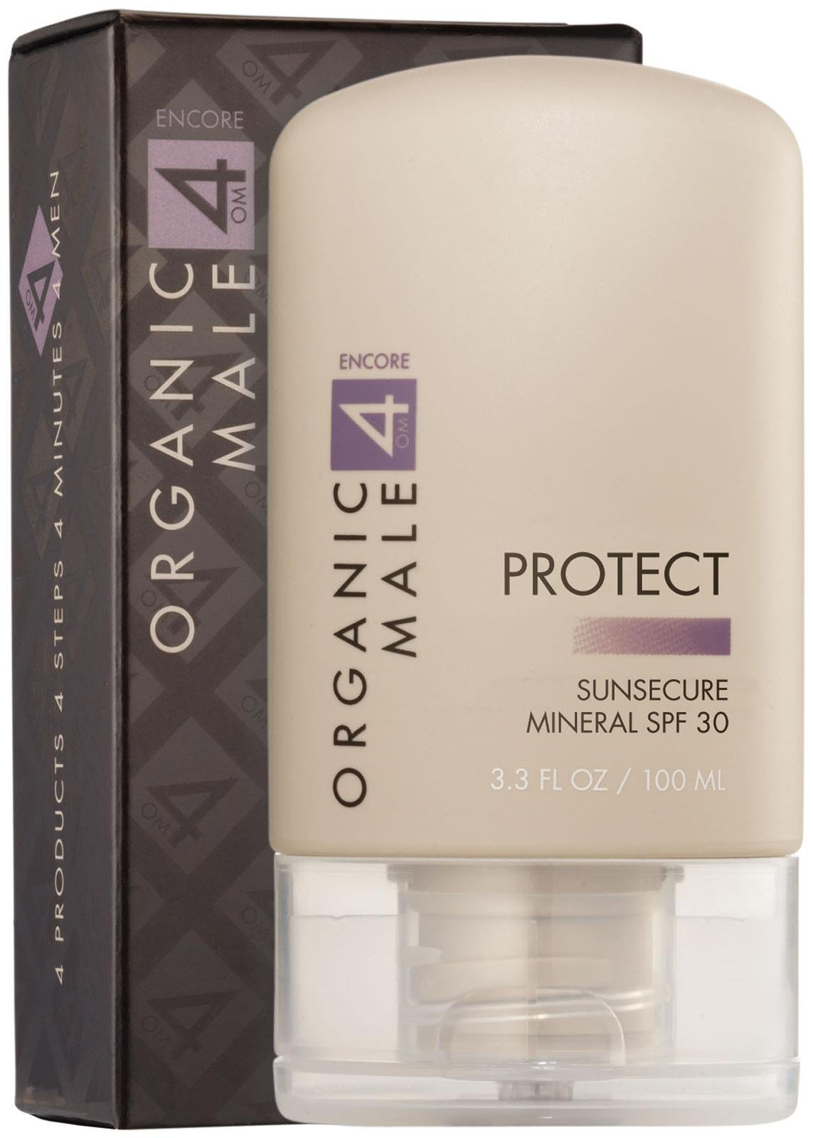 Organic Male OM4 Encore PROTECT: SunSecure Mineral SPF 30 - 3.3 oz