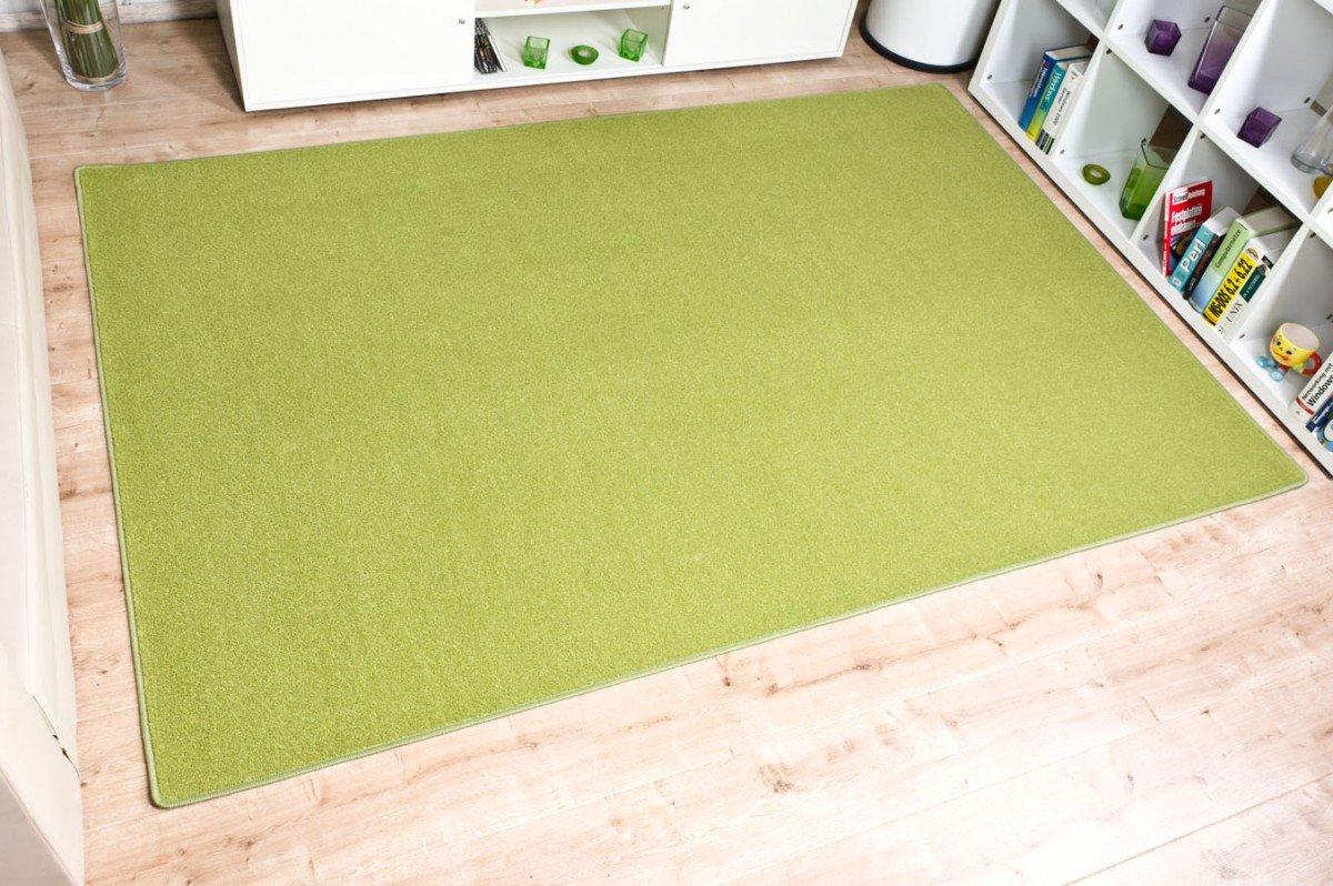 Velours Teppich Trend Grün nach Maß - versandkostenfrei ...