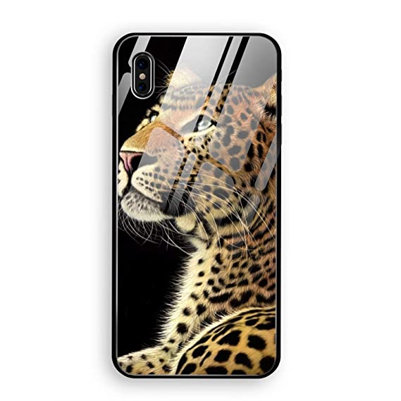 the best attitude 6d172 e434a Amazon.com: Alert Cheetah iPhone X Case Luxury Tempered Glass Back ...