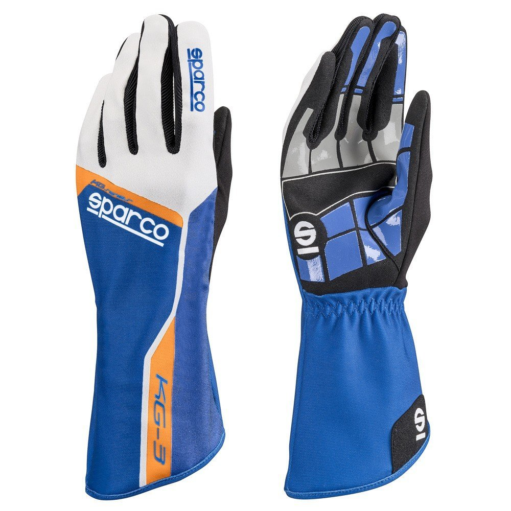 Sparco s00255309azaf Track kg-3 Guanti, colore: blu/arancione, taglia 09