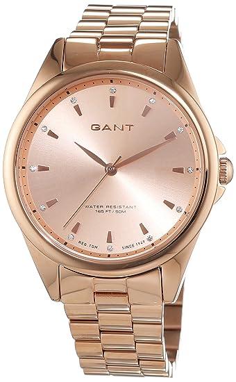 GANT ROCHELLE – Reloj de pulsera analógico para mujer cuarzo, revestimiento de acero inoxidable W70562