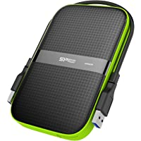 Silicon Power 2TB Rugged Armor A60 USB 3.0 Portable External Hard Drive Compatible for PC, Mac, Xbox & PS4(Black)
