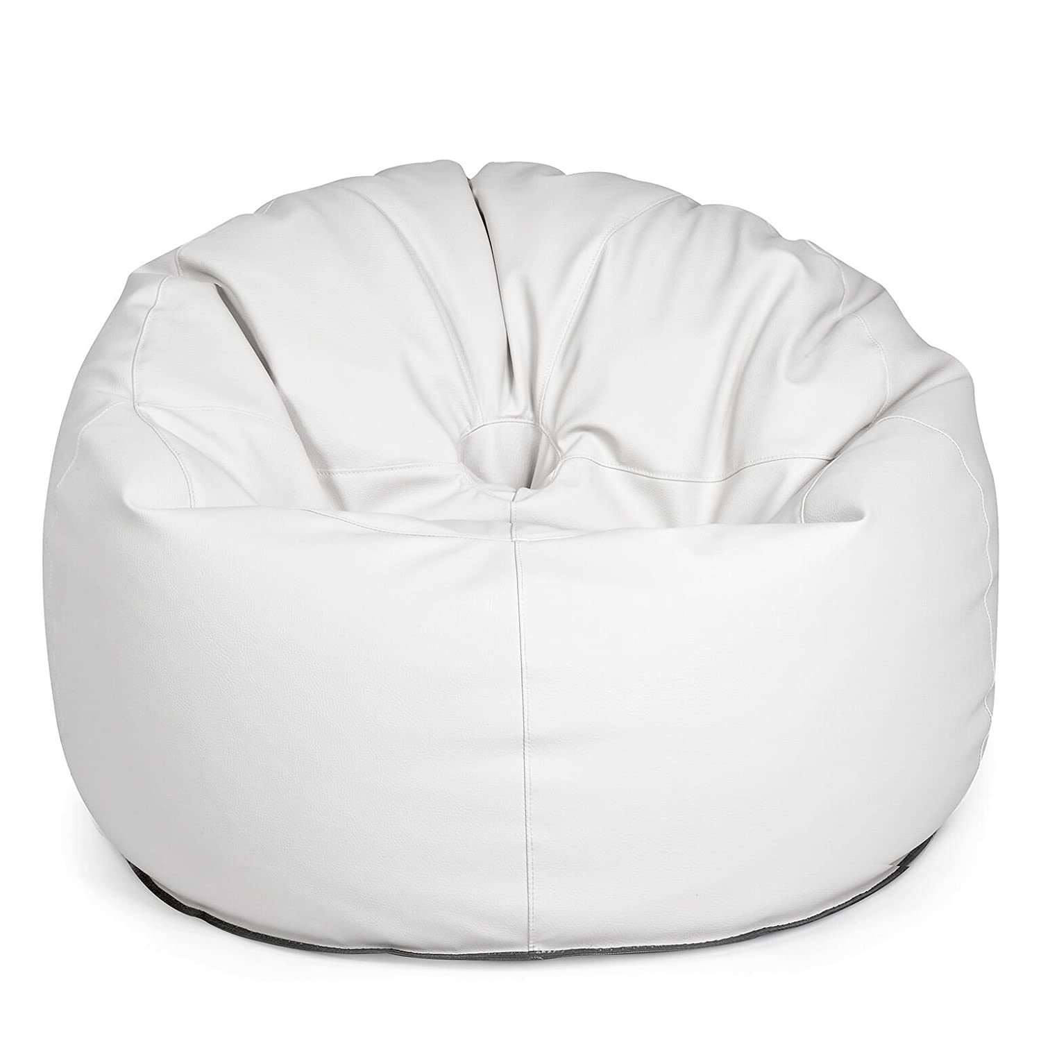 outdoor sitzsack sessel donut light white wei lederoptik wetterfest frostsicher gartenstuhl. Black Bedroom Furniture Sets. Home Design Ideas