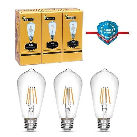Bombilla Edison, notoc Retro estilo bombilla LED 4 W ...
