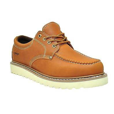 amazon com golden fox work shoe 4 moc toe leather men s oxford