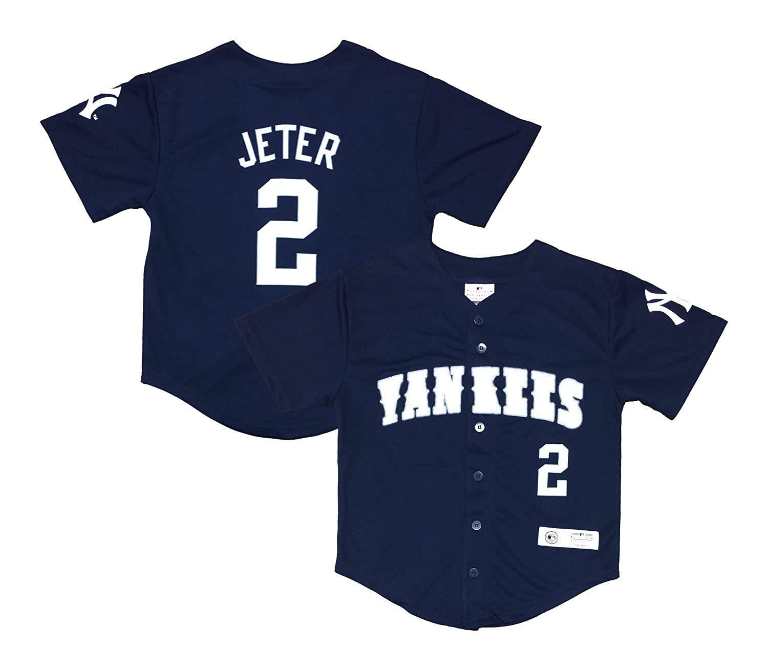 0e910148514 Amazon.com: Derek Jeter New York Yankees #2 Navy Blue Youth Player Fashion  Jersey (X-Large 14/16): Clothing