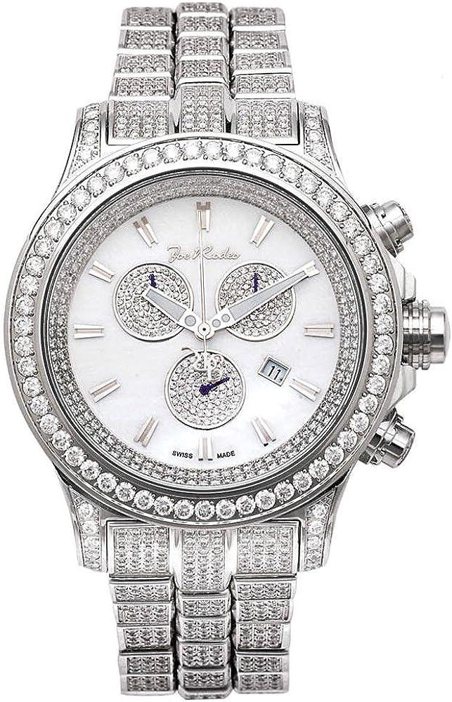 Joe de diamante reloj Rodeo para Hombre - MASTER PILOT plateado 26,7 de quilate