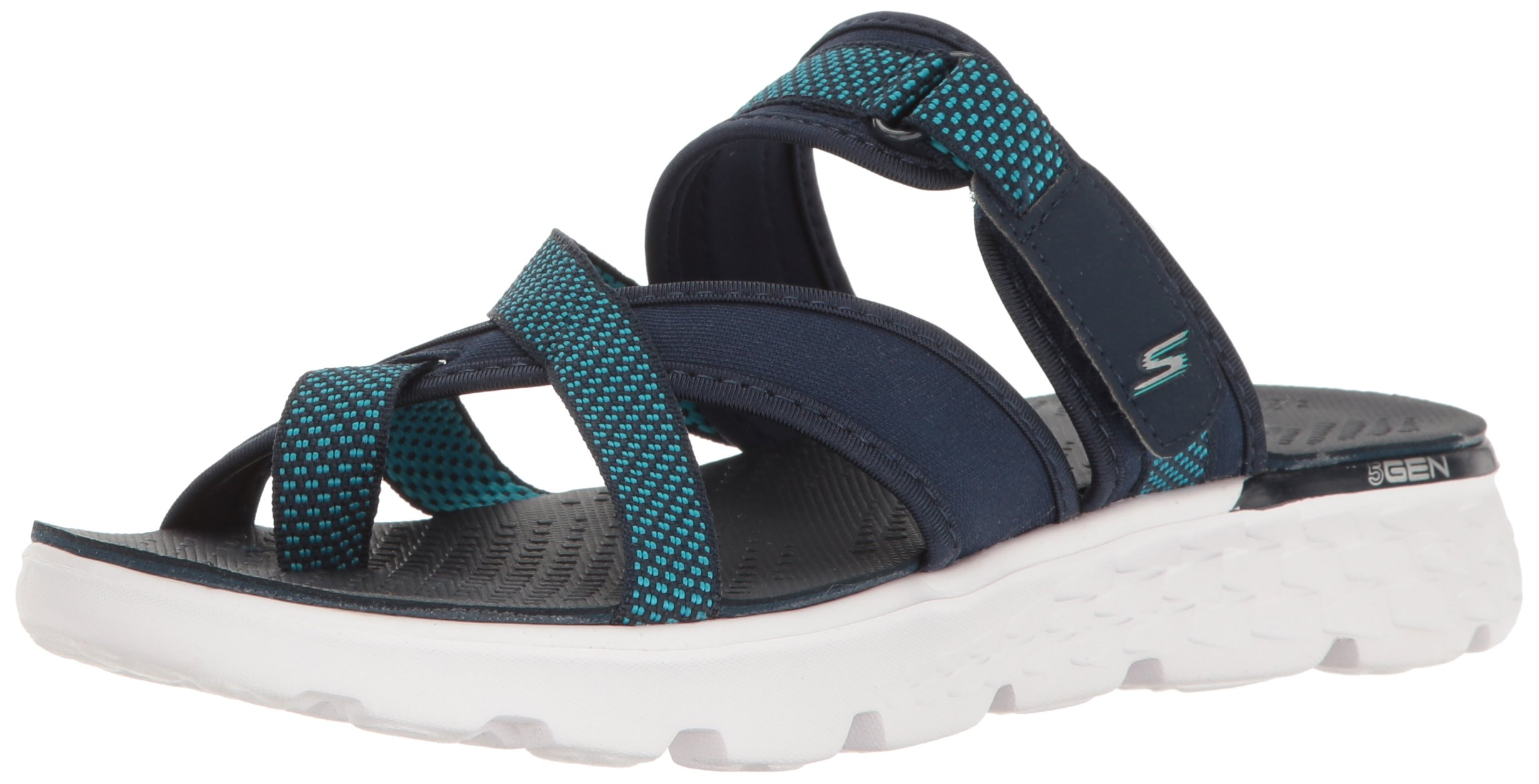 Skechers Performance Women's On The Go 400 Discover Flip Flop,Navy,9 M US