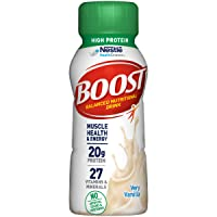 BOOST High Protein Balanced Nutritional Drink, Very Vanilla, 8 Ounce Bottle (Pack...