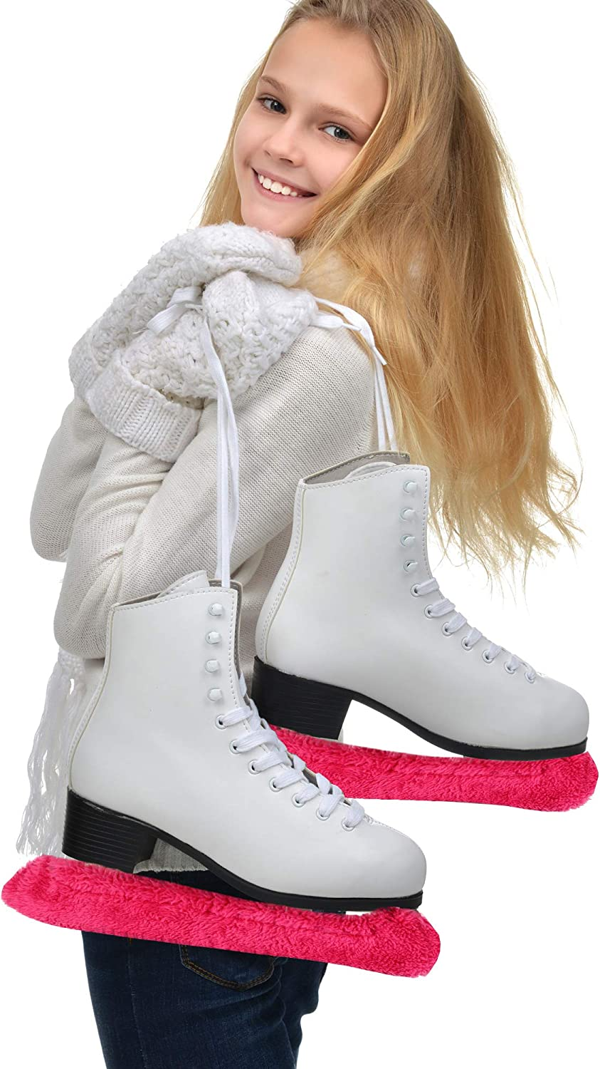 Suitable for Ice Skating and Hockey Skates Figure Skates M Zhanmai Microfiber Hockey Skate Blade Cover and Microfiber Towel Ultra Soft Absorbent Fast Drying