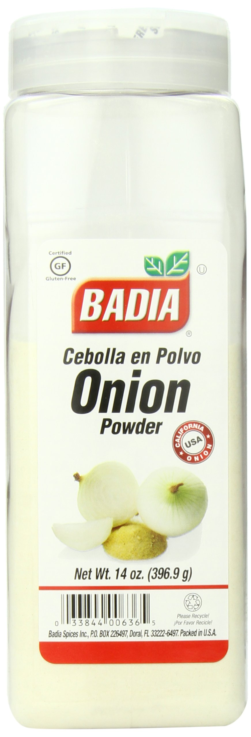 Badia Onion Powder, 14 Ounce (Pack of 6)