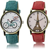 DREALEX Combo Set of Analogue Multi-Color Dial Girl's and Women's Watch - 229_230