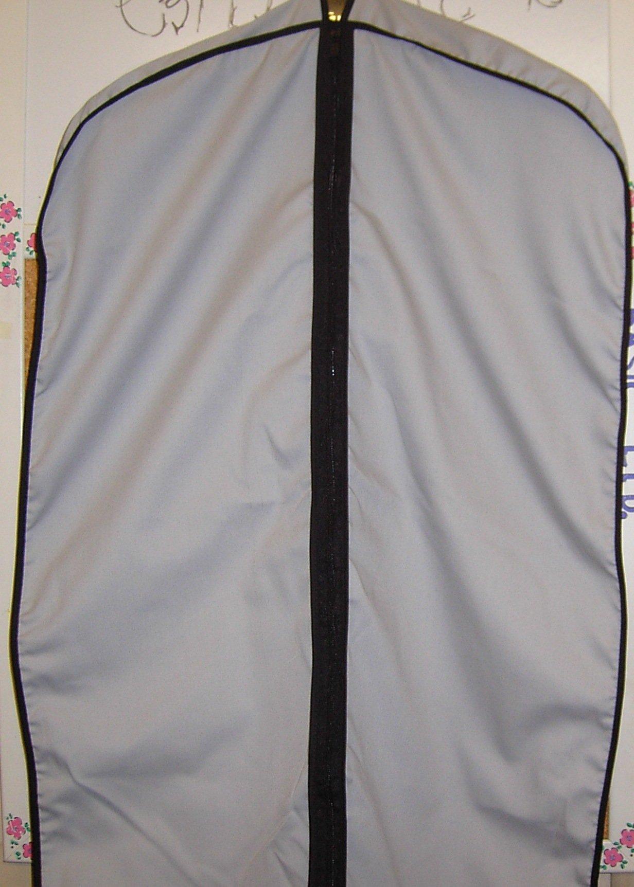 Tuva Breathable Cotton Cloth Fur Coat & Suit/dress Garment Bag, 60'', Grey, Tuva Inc.