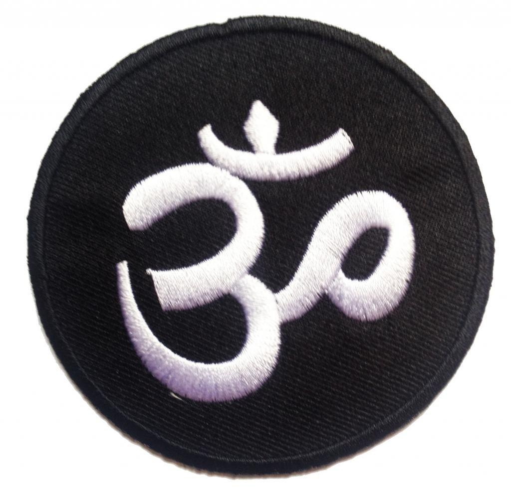 om noir et blanc de base symbole lotus hindou symbole de mditation spirituelle patch