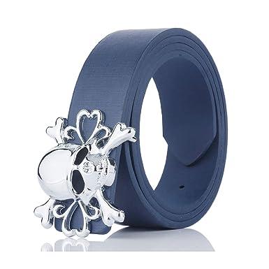 Daesar Cinturon Ancho Hombre Cuero Azul Oscuro Cinturón ...
