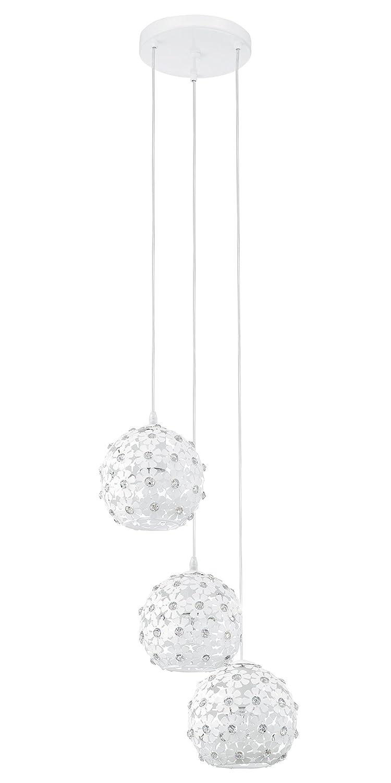 EGLO Hängeleuchte Modell Hanifa  3, weiß kristall kristall kristall 92285 E 39cdf3