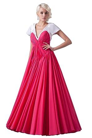 Amazon.com: Elegant Women\' Plus Size Evening Dresses with Sleeves ...