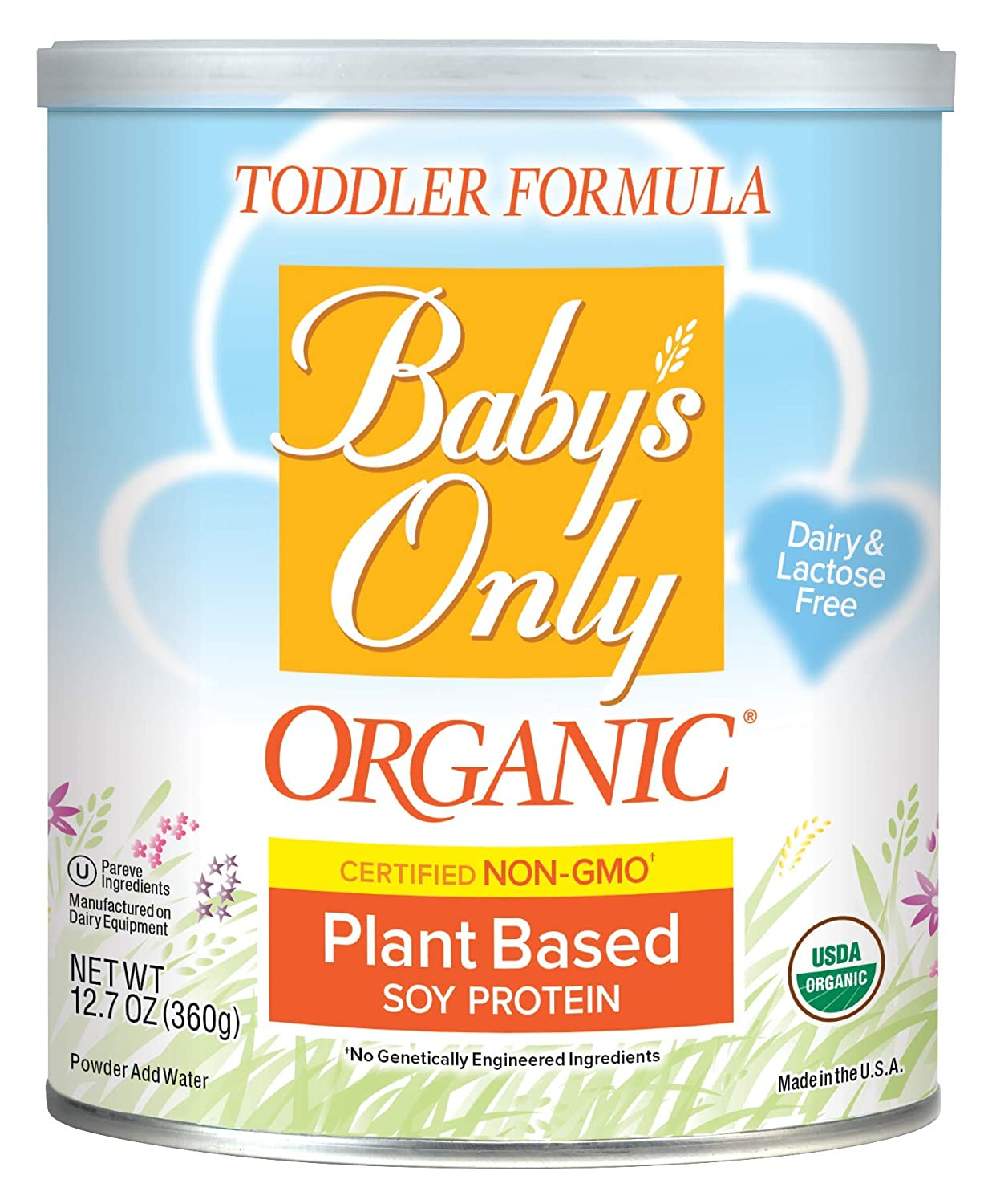 Baby's Only Soy Protein Toddler Formula - Non GMO, USDA Organic, Clean Label Project Verified