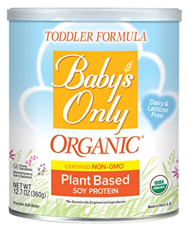Babys Only Organic Non-GMO Soy Protein Toddler Formula, Clean Label Project Verified, 12.7 oz