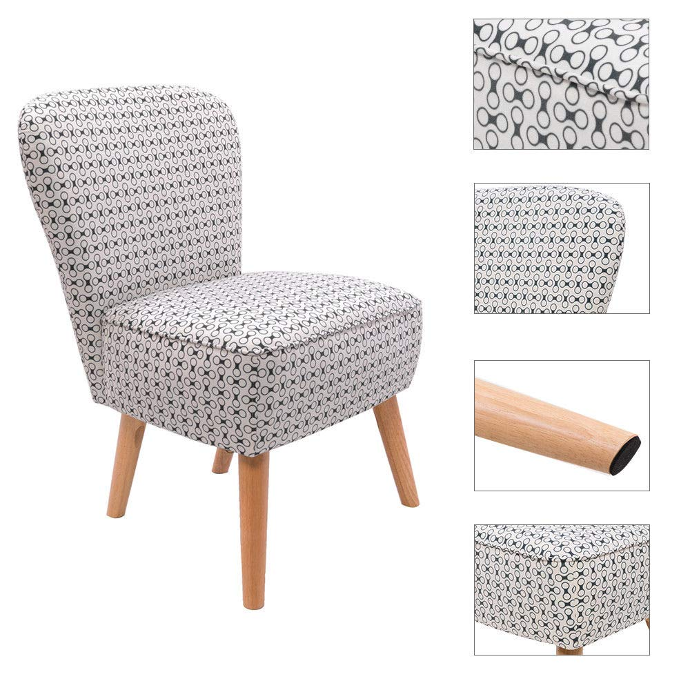 Orange Linen Fabric Occasional Accent Chair Upholstered Retro Modern Chairs Seating for Living Room Bedroom Lounge Office Button Design Dining Chair Kitchen