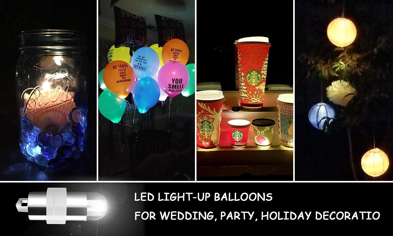 Light Libershine Pack of 30 Waterproof LED Balloons Lights Paper Lanterns Floral Light Fairy Lights