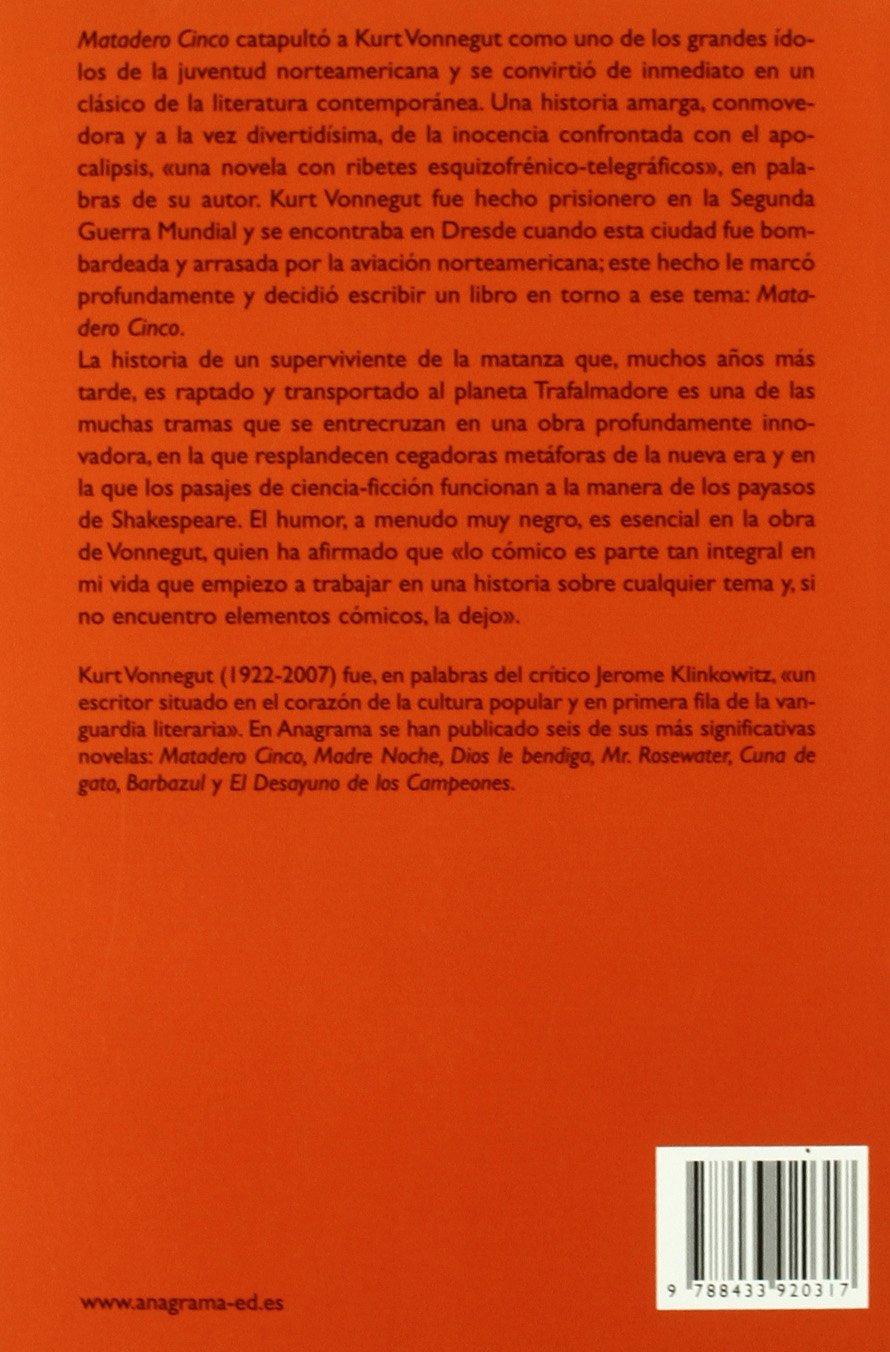 Matadero cinco (Spanish Edition): Kurt Vonnegut: 9788433920317: Amazon.com: Books